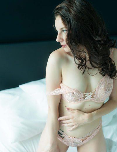 Mia Elysia Escort Wäscheset rosa stehend
